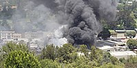 Fire at the Universal Music Group warehouse in 2008