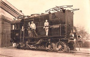 Rotary phase converter - The first locomotive with a phase converter (only for demonstration purposes)
