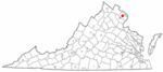 State map highlighting City of Fairfax