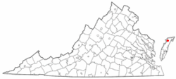 Location of Hallwood, Virginia