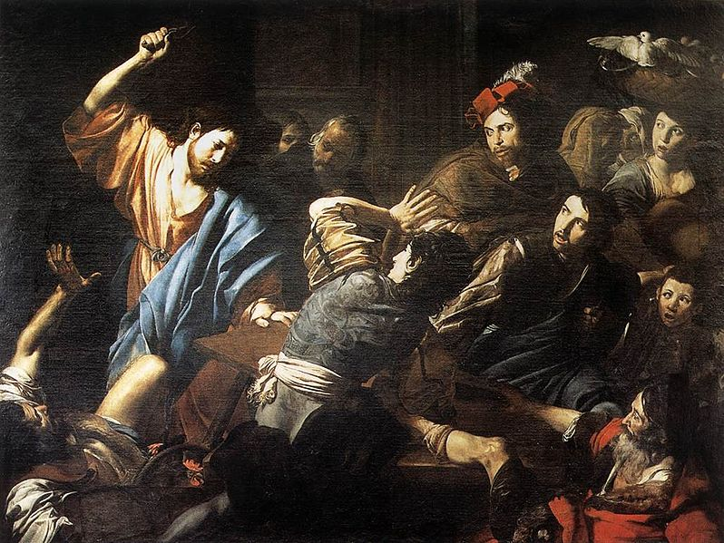 File:Valentin de Boulogne, Christ Driving the Money Changers out of the Temple.jpg