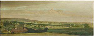 Valerius de Saedeleer - A panoramic view of Tiegem