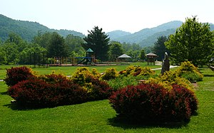 Valle Crucis, North Carolina - The Valle Crucis Community Park.