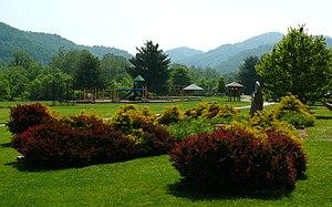 The Valle Crucis Community Park. Photo taken w...
