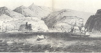 Valparaíso - View of Valparaíso Bay (1830)