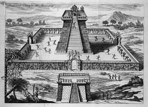 Jan Karel Donatus van Beecq - Temple of the Sun in Tenochtitlan, engraving by Moyse Jean-Baptiste Fouard after a drawing by Van Beecq.