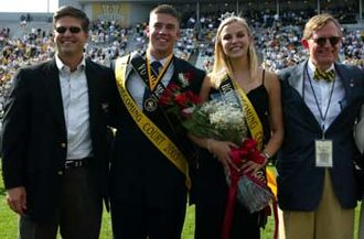 Beta Upsilon Chi - BYX brothers are active in the life of the universities they call home. Here, Vanderbilt Nu alum Todd Dahmann is crowned Homecoming King in 2003.