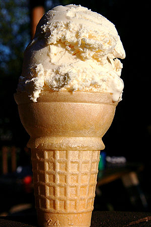 Vanilla ice cream cone
