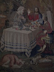 Vatican Museum Supper at Emmaus tapestry.jpg