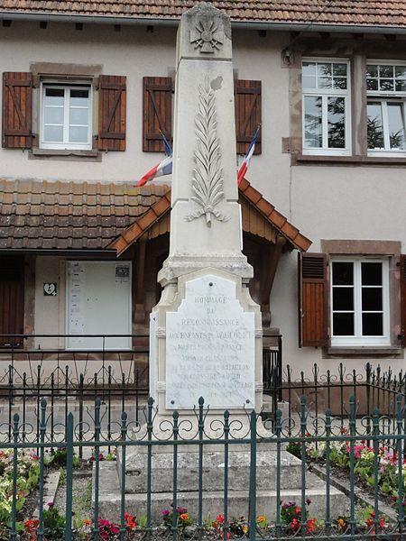 Vaucourt (M-et-M) monument aux morts