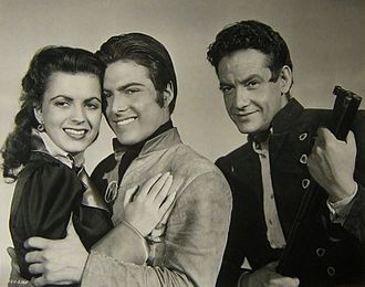 George Dolenz - Faith Domergue, Donald Buka, and George Dolenz in Vendetta (1950)