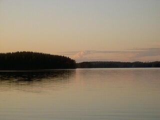 Bifurcation lake