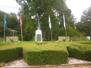 Mangham, Louisiana - Memorial to Mangham High School veterans who died in World War II