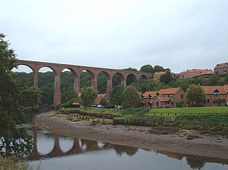 Ruswarp - Image: Viaduct over the River Esk geograph.org.uk 1495045