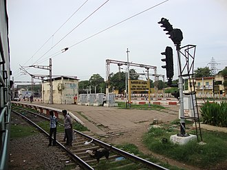 Basin Bridge railway station - View of Basin Bridge Railway Junction