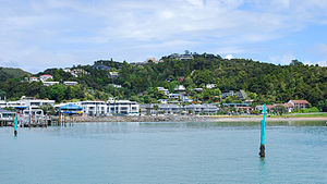 Paihia - A view of Paihia as seen from the ferry to Russell