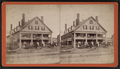 View of a building with horse coaches in front, from Robert N. Dennis collection of stereoscopic views.png