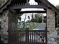 View through the lych gate to the graveyard of Rockbeare Church - geograph.org.uk - 1701379.jpg