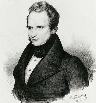 Alfred de Vigny - Alfred de Vigny, by Antoine Maurin, 1832.