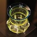 "Vikings Glass beakers - 25807172072 Swedish History Museum (Historiska museet) MuseumsPartner exhibition ""Vikings Beyond the legend"" Australian National Maritime Museum Sydney 2013.jpg"