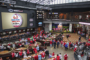 St. Louis Ballpark Village - 2014 HOF ceremony.