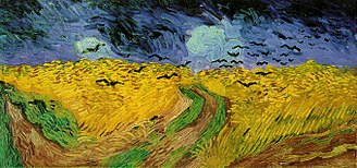 1890 in art - van Gogh's Wheatfield with Crows, painted in July 1890 during his last weeks (Van Gogh Museum, Amsterdam)