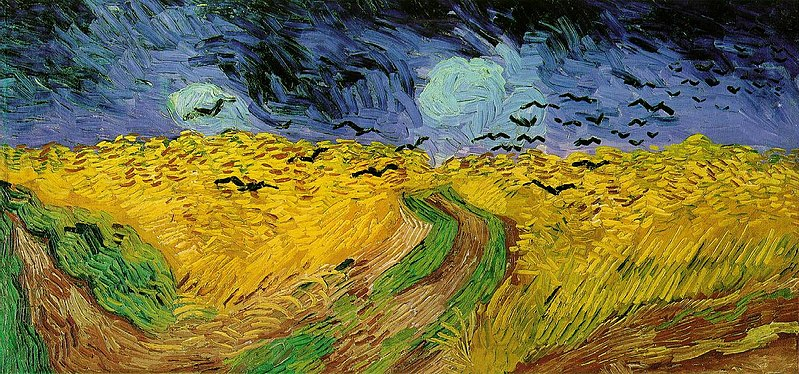 Imagem:Vincent van Gogh (1853-1890) - Wheat Field with Crows (1890).jpg
