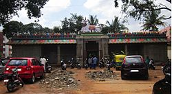 A view of 1000-year-old temple dedicated to lord Veerabhadra