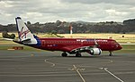 Virgin Blue (VH-ZPF) Embraer ERJ-190AR on the tarmac at Canberra Airport.jpg