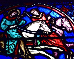 Detalle de un vitral de la Catedral
