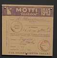 Voluntary woodcutting campaign's certificate for Mottitalkoot 1943 campaign.JPG