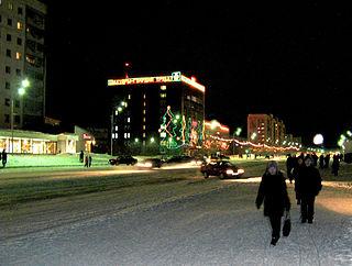 Vorkuta Town in Komi Republic, Russia