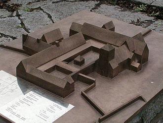 Vreta Abbey - Model of medieval Vreta Abbey