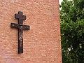 Włocławek-coronavirus plague cross on the Saintest Savior Church.jpg