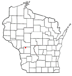 Location of New Lyme, Wisconsin