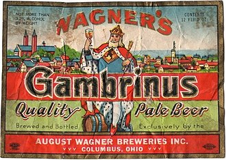 August Wagner Breweries - Image: Wagners Gambrinus Quality Pale Beer Labels August Wagner Breweries 72951 1