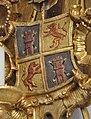 Wald Klosterkirche Votivtafel Kreuzigung Wappen.jpg