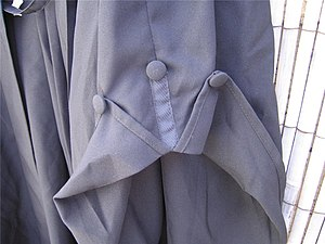 Academic dress of the University of Wales - Detail of the BA gown sleeve.