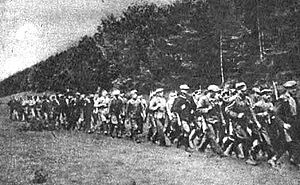 Armia Ludowa - Armia Ludowa (People's Army) at a forest near Lublin