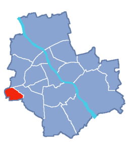 Location of Ursus within Warsaw