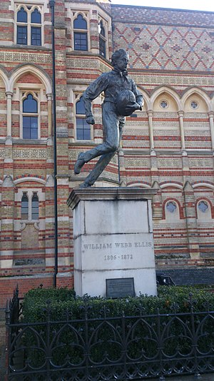 William Webb Ellis - Statue of William Webb Ellis outside Rugby School