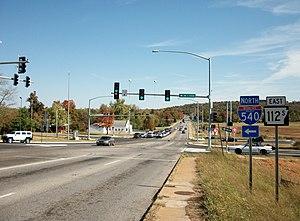 Arkansas Highway 112 - Wedington Drive begins at I-49 and cuts into the Ozarks.