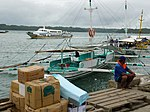 Weesam Express with pump boat ferry to Guimaras.JPG