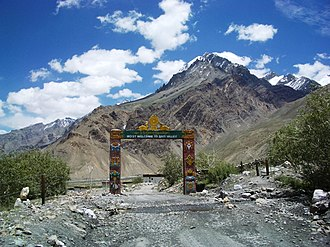 Spiti Valley - Image: Welcome to Spiti Valley
