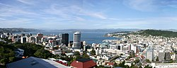 Panorama of central Wellington
