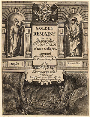 John Hales - Golden Remains, etched by Wenceslaus Hollar