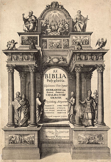 Wenceslas Hollar - Polyglot Bible (State 3)