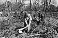 Werklozen vrijwillig (met behoud van uitkering) aan het werk in bossen bij Nunsp, Bestanddeelnr 932-1120.jpg