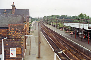 West Horndon railway station - West Horndon railway station in 1991