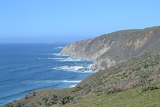 Tomales Point - Image: Western edge of Point Reyes Peninsula towards Tomales Point